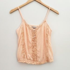 2 for $20 American Eagle pink cropped tank crochet